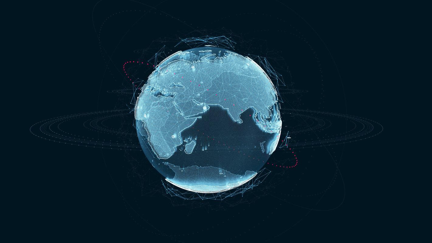 3D hologram planet earth v1 model