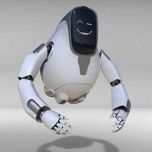 droid robot bot 3D model