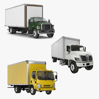 Box Trucks 3D Models Collection