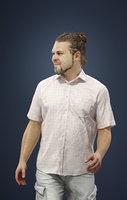 Kamil Casual Man Walking in Summer attire- Shorts