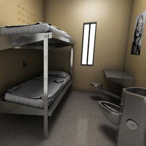 3D prison cell model