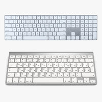 Apple Wireless Keyboards 3D Models Collection