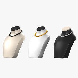 jewelry mannequins 3D model