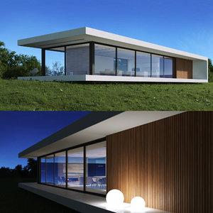 exterior scene f-house 3D model