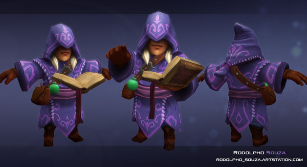 3D mini warlock model