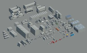 3D revit families 2016 mechanical model