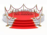 carpet red stage 3D model
