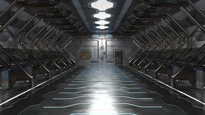 sci fi hangar model