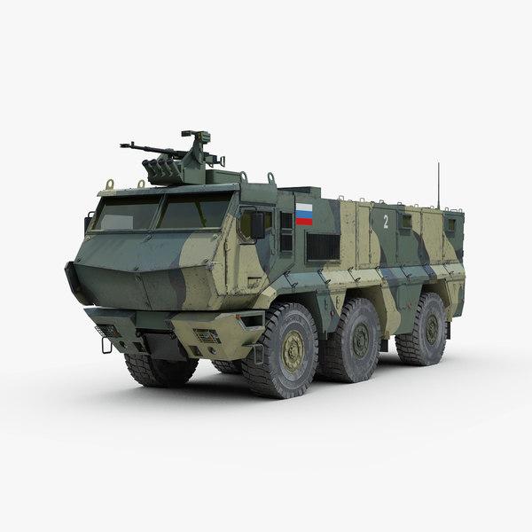 russian kamaz typhoon armored truck 3D model