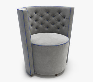 linley chesterfield tub chair 3D