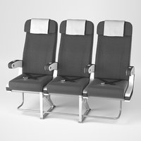 airplane chair v4 3D model