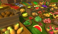 Fruits and vegetables lowpoly, handpainted props
