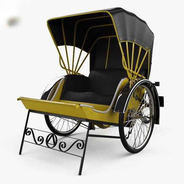 3D trishaw penang model