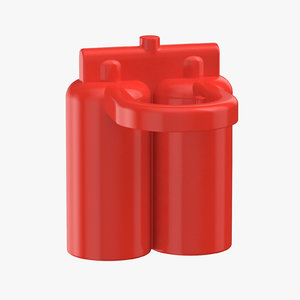 3D lego astronaut oxygen tank