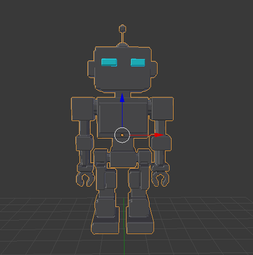 small robot character 3D model