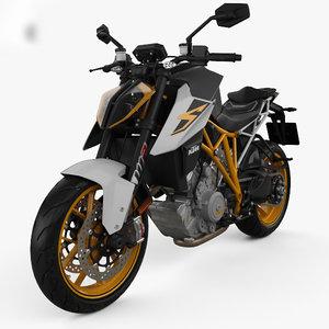 3D model ktm 1290 super