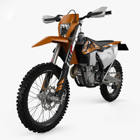 3D ktm 450 exc-f model