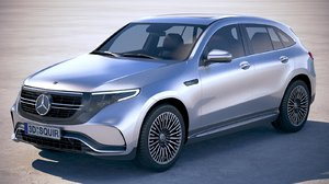 3D mercedes-benz eqc amg model