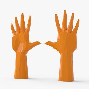stylized hand 3D model