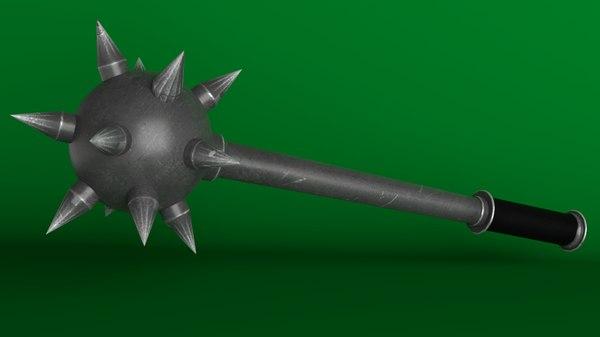 3D medieval mace model