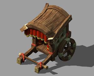 city - advanced carriage 3D