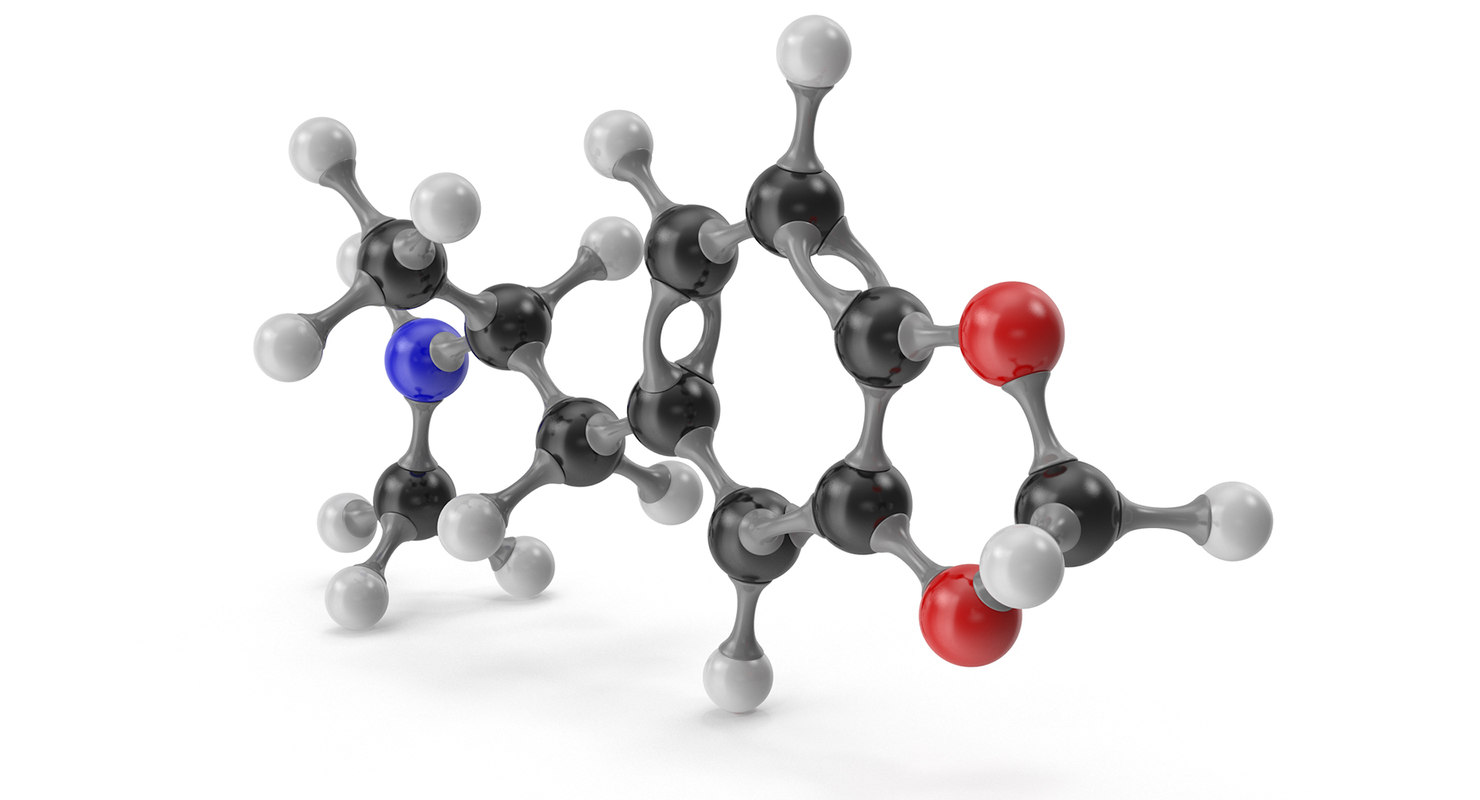 mdma molecular 3D