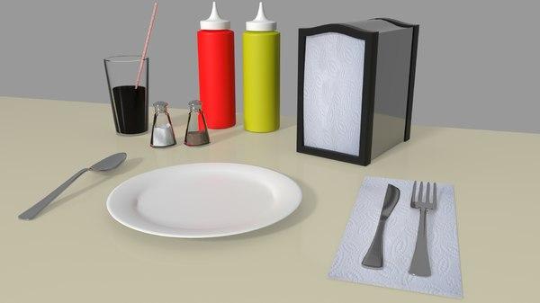 3D set diner