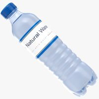 3D real water bottle