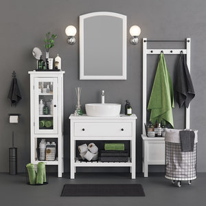 3D bathroom hemnes towels set model