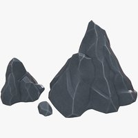 3D model rock polygons