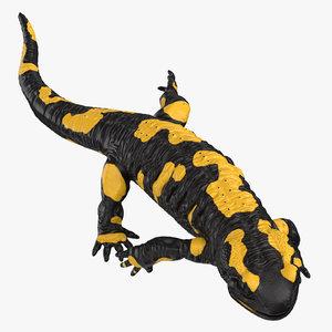 3D salamander running model