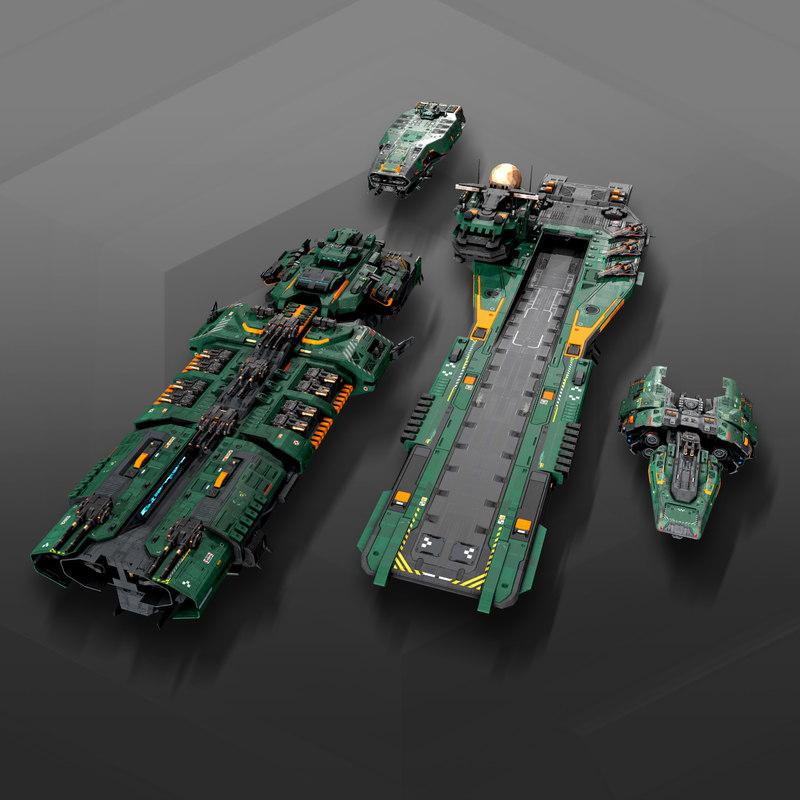 3D federation fleets sf