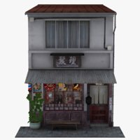 old barber shop store model