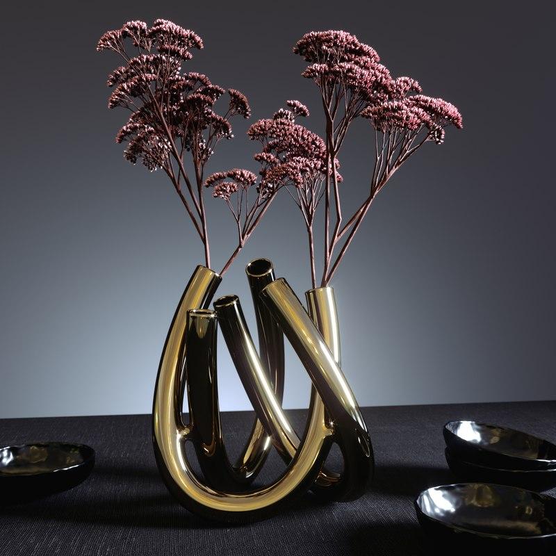 3D triu vase flower