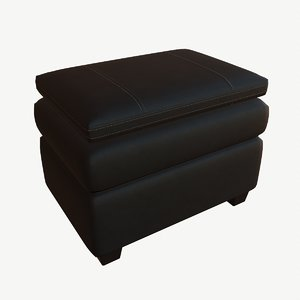 3D modeled gleason ottoman chair model