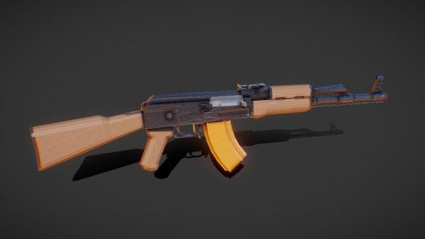 ak47 rifle weapon model