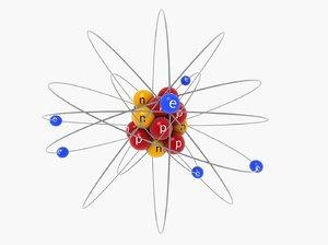3D atom orbit model