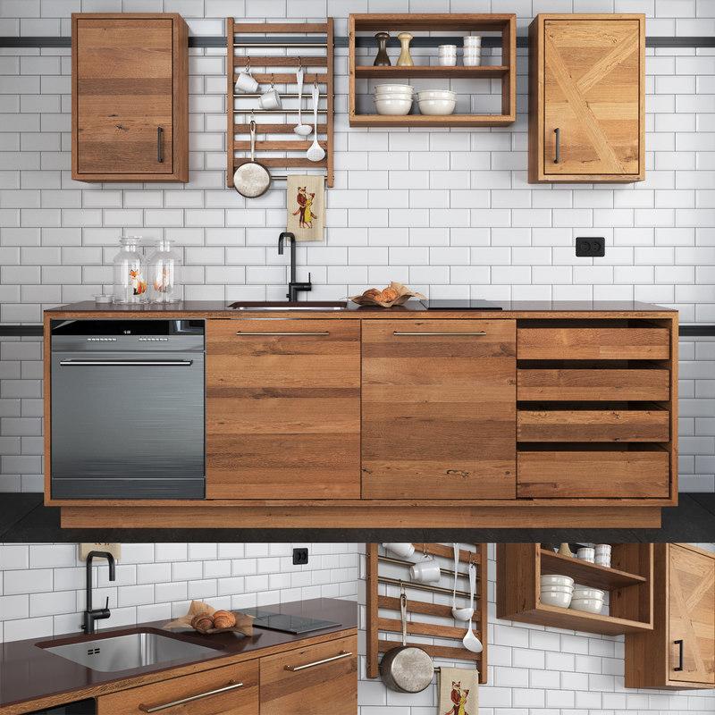 3D railway kitchen