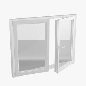 3D pvc double window