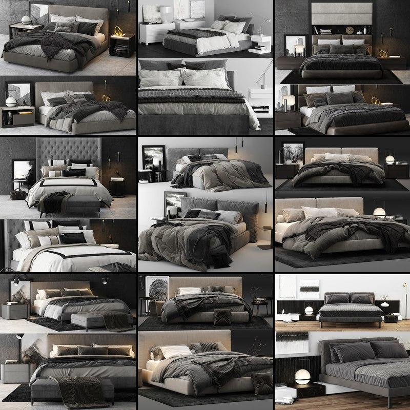 3D bed colection 02 - model