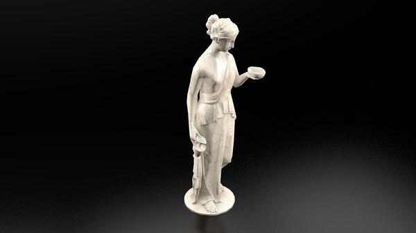 3D hebe s statue - model