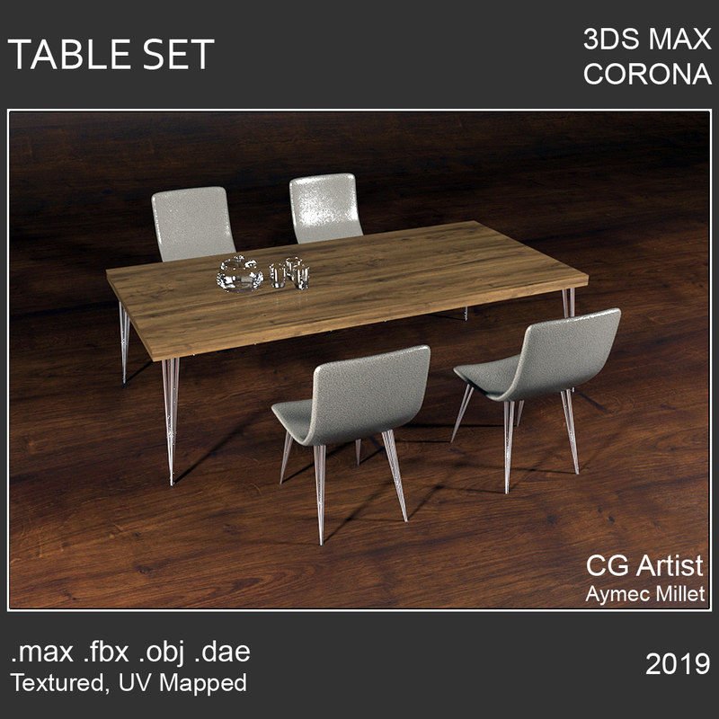 2019 table 3D model