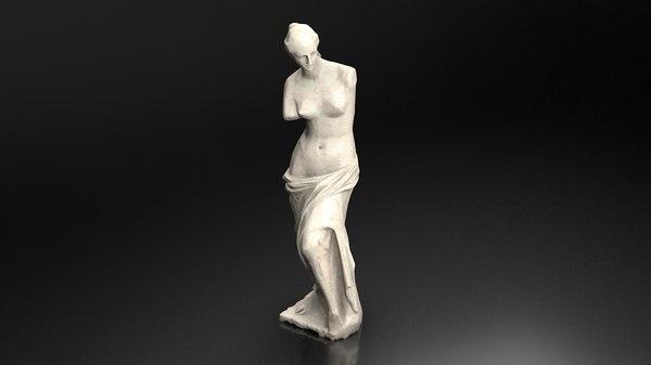 venus milo statue 3D model