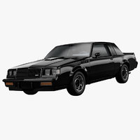 3D buick regal gnx 1987