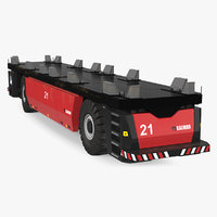 AGV Trailer Kalmar FastCharge Rigged 3D Model