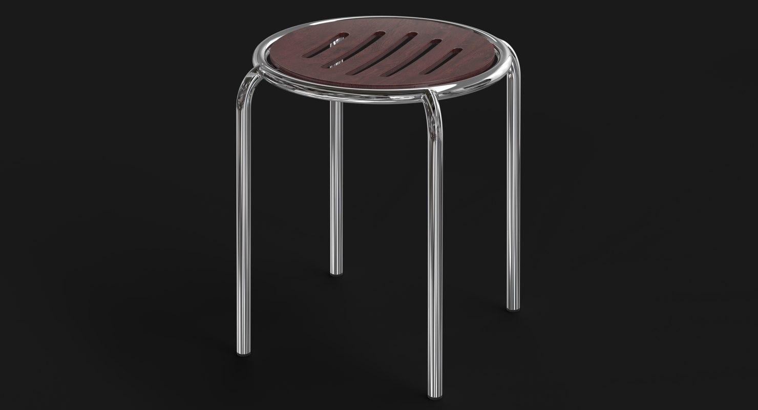 realistic stool 3D model