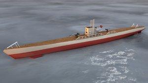 type ix u-boat submarine 3D