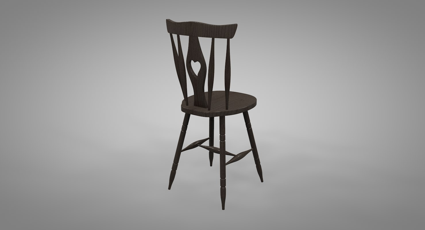cod tail chair 3D model