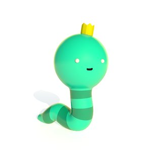 adventure time worm 3D model