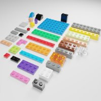 Lego brick collection - 35 pieces